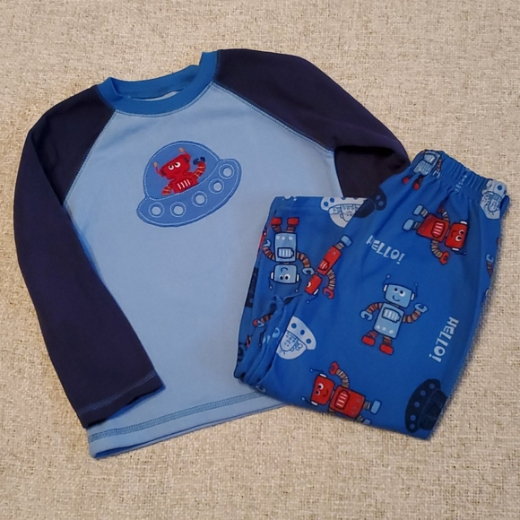 Carter's Other - Robot 3T long sleeve Fuzzy pajamas pjs